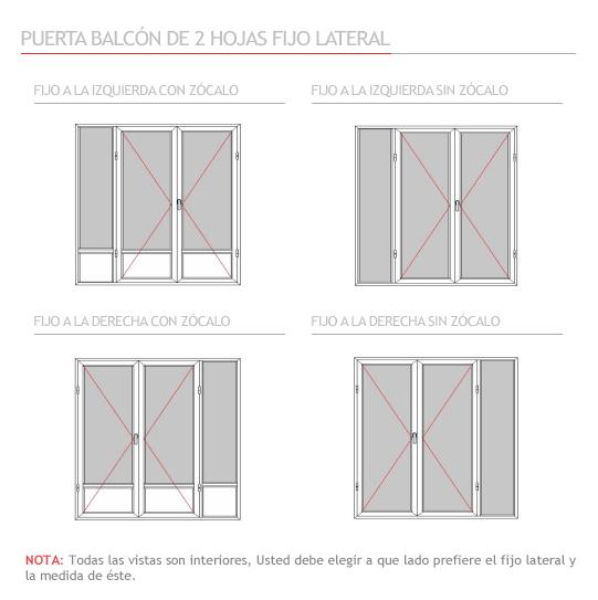 Puertas de cristal a medida great puerta corredera Puerta balcon aluminio medidas
